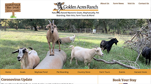 Golden Acres Ranch website