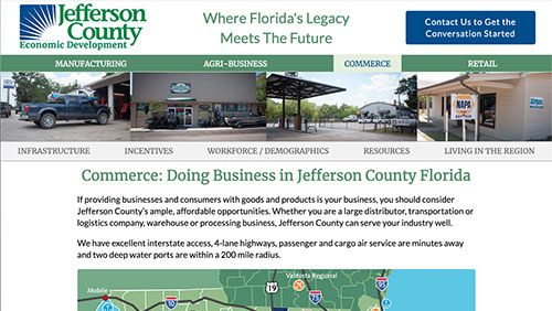 Jefferson County, Florida Economic Development website