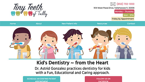 Tiny Teeth of Tally website
